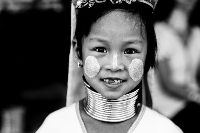 Malu's Missing Tooth - Kayan Long Neck Paduang Karen Child © Kevin Landwer-Johan how relationship affects your photography