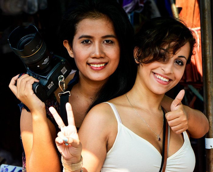Two women on a Chiang Mai Photo Workshop