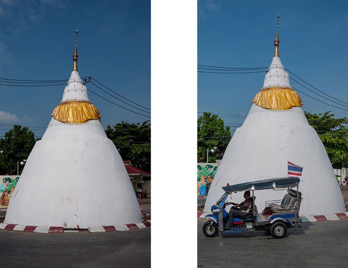 historic white chedi in Chiang Mai, Thailand